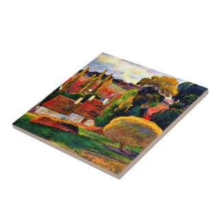 Gauguin: Farm in Brittany, 1894 painting Tile