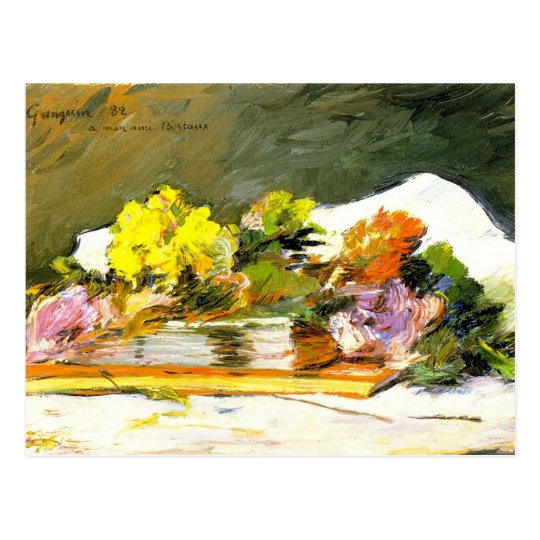 Gauguin - Flowers and Books Postcard