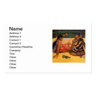 Gauguin French Polynesia Tahiti Women Business Card
