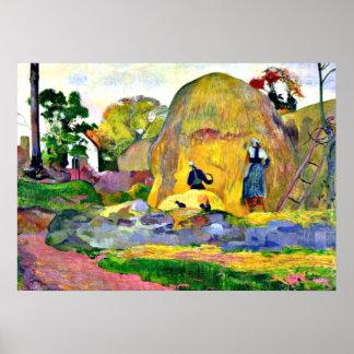 Gauguin - Golden Harvest, Paul Gauguin painting. Poster