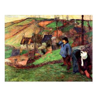 Gauguin - Landscape of Brittany Postcard