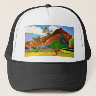 Gauguin Mountains in Tahiti Trucker Hat