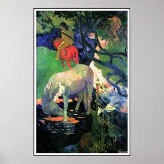 Gauguin Poster Print : The White Horse