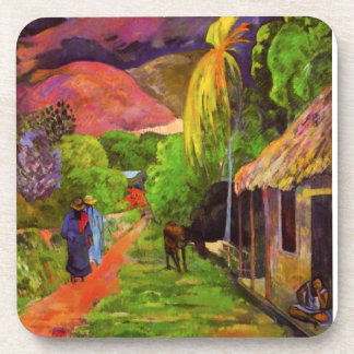 Gauguin Road in Tahiti Coasters