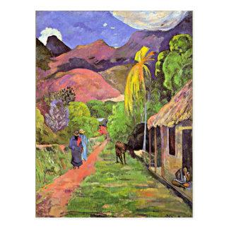 Gauguin - Road in Tahiti Postcard