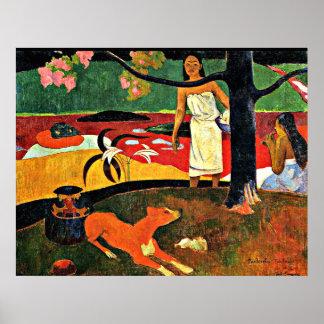 Gauguin - Tahitian Pastorale Poster