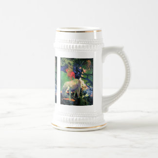 Gauguin: The White Horse 18 Oz Beer Stein