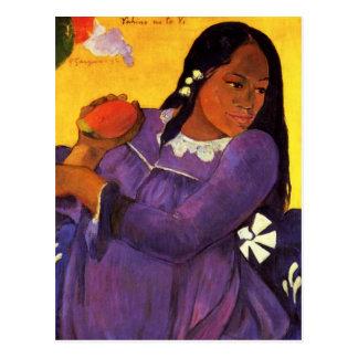 Gauguin Woman With A Mango Postcard