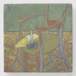 Gauguin's Chair by Vincent Van Gogh Stone Beverage Coaster