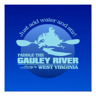 Gauley River (Blue) Poster