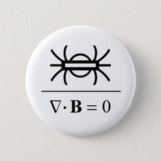 Gauss's Law of Magnetism 2 Inch Round Button