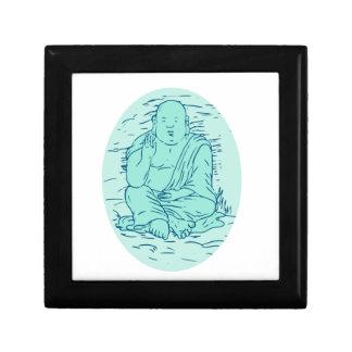 Gautama Buddha Lotus Pose Drawing Gift Box