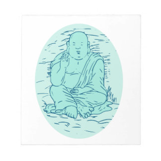 Gautama Buddha Lotus Pose Drawing Notepad