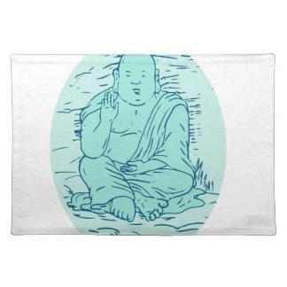 Gautama Buddha Lotus Pose Drawing Placemat