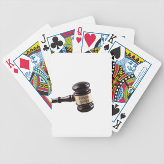 Gavel Design For Aspiring Judges And Lawyers Bicycle Playing Cards