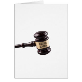 Gavel Design For Aspiring Judges And Lawyers Card