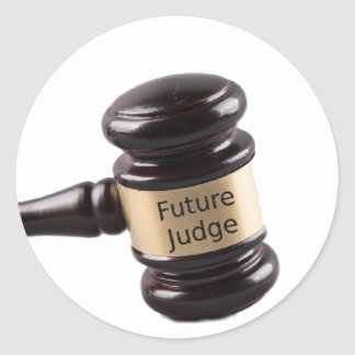 Gavel Design For Aspiring Judges And Lawyers Classic Round Sticker