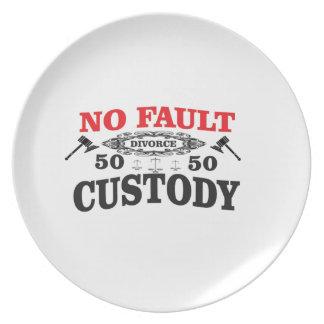 gavel divorce 50 50 custody plate