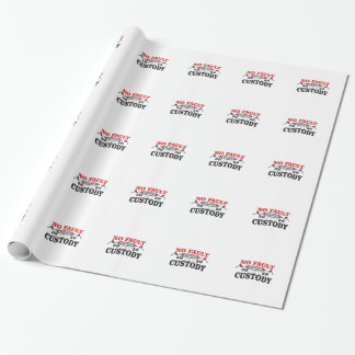 gavel divorce 50 50 custody wrapping paper