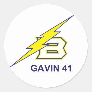 GAVIN 41 CLASSIC ROUND STICKER