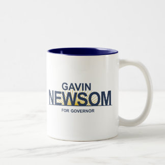 Gavin Newsom for Governor Two-Tone Coffee Mug