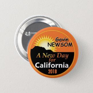 Gavin NEWSOM Governor 2018 2 Inch Round Button
