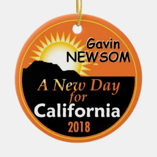 Gavin NEWSOM Governor 2018 Ceramic Ornament