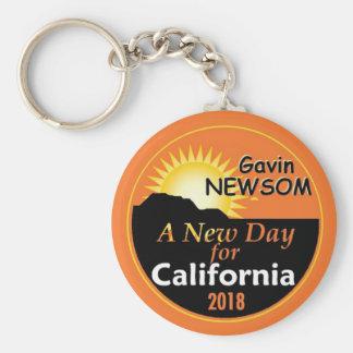 Gavin NEWSOM Governor 2018 Keychain