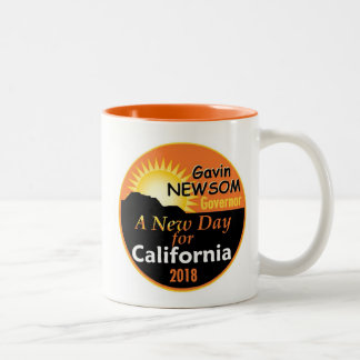 Gavin NEWSOM Governor 2018 Two-Tone Coffee Mug