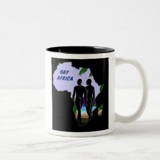 Gay Africa Travel Two-Tone Coffee Mug