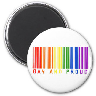 Gay and Proud  Barcode Magnet