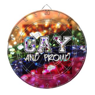 Gay and Proud Rainbow Design Dartboard