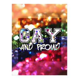 Gay and Proud Rainbow Design Letterhead