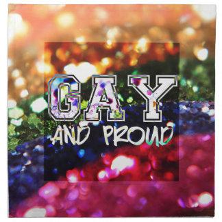 Gay and Proud Rainbow Design Napkin