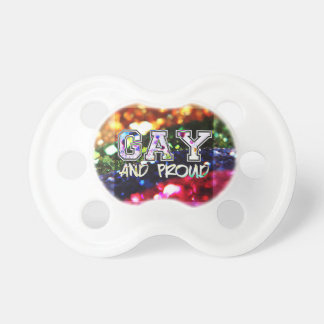 Gay and Proud Rainbow Design Pacifier