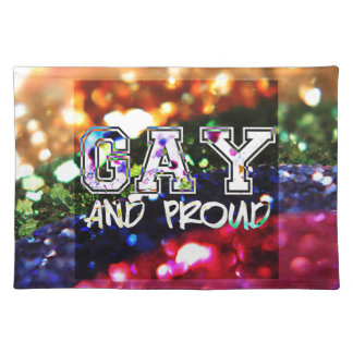 Gay and Proud Rainbow Design Placemat