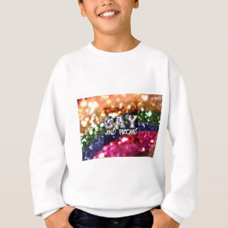 Gay and Proud Rainbow Design Sweatshirt