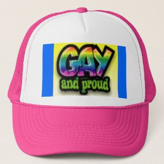 Gay and proud trucker hat