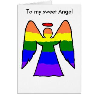 Gay Angel Christmas card