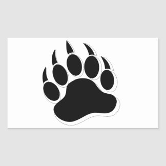Gay Bear claw B&W 3D effect Sticker