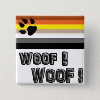 Gay bear pride button. 2 inch square button