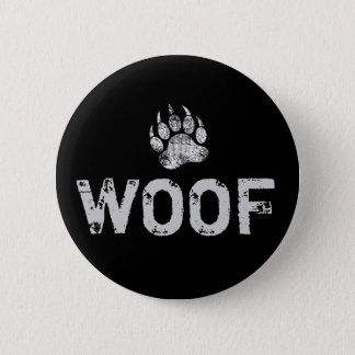 Gay Bear Pride distressed Bear Paw WOOF 2 Inch Round Button