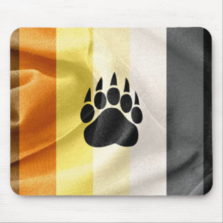 Gay Bear Pride Flag and Paw Mouse Pad