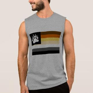 Gay Bear Pride Flag Bear Paw Sleeveless Shirt