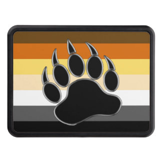 Gay Bear Pride Flag Bear Paw Tow Hitch Cover