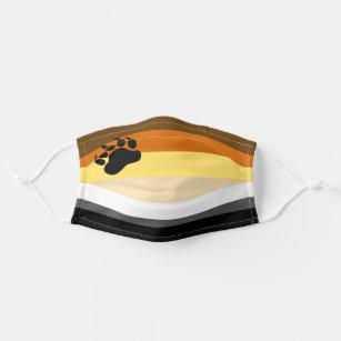 Gay Bear Pride Flag Cloth Face Mask