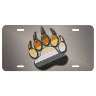 Gay Bear Pride Paw License Plate