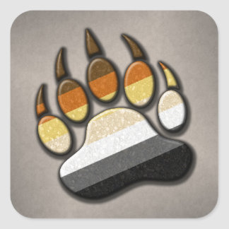 Gay Bear Pride Paw Square Sticker