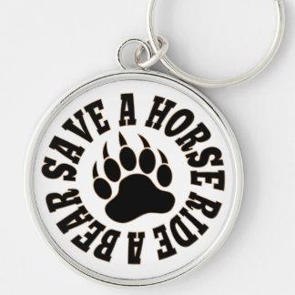 Gay Bear Pride Save A Horse Ride A Bear Keychain