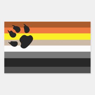 Gay bear pride sticker.